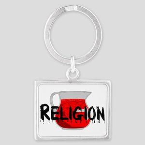 Religion Brainwashing Drink Landscape Keychain
