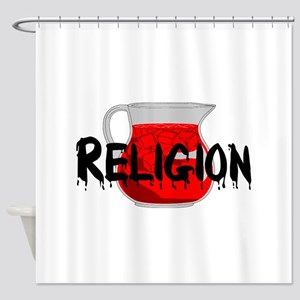 Religion Brainwashing Drink Shower Curtain