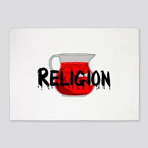 Religion Brainwashing Drink 5'x7'Area Rug