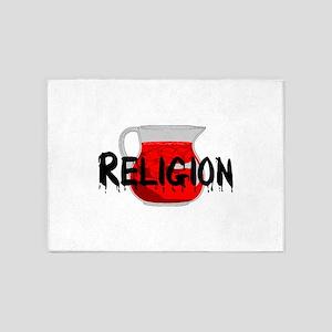 Religion Brainwashing Drink 5'x7'Area Rug