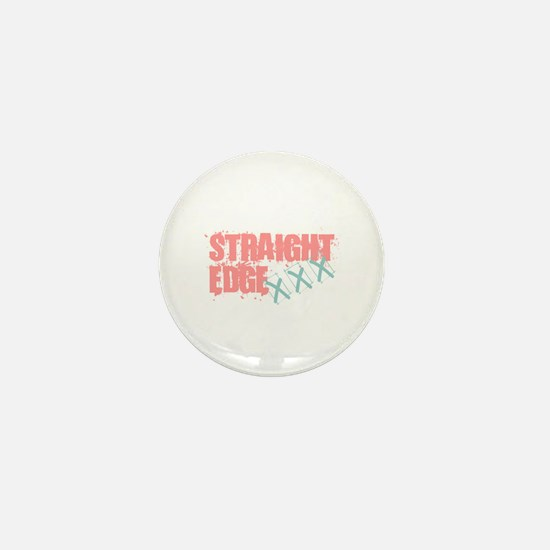 Straight Edge Girls Mini Button
