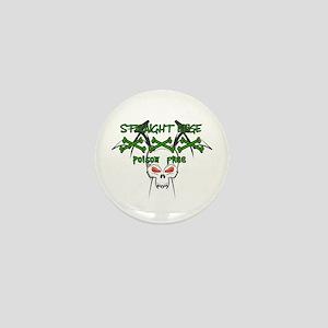 Straight Edge Poison Free II Mini Button