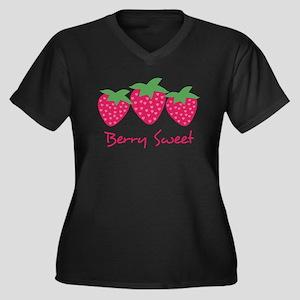 Berry Sweet Women's Plus Size V-Neck Dark T-Shirt