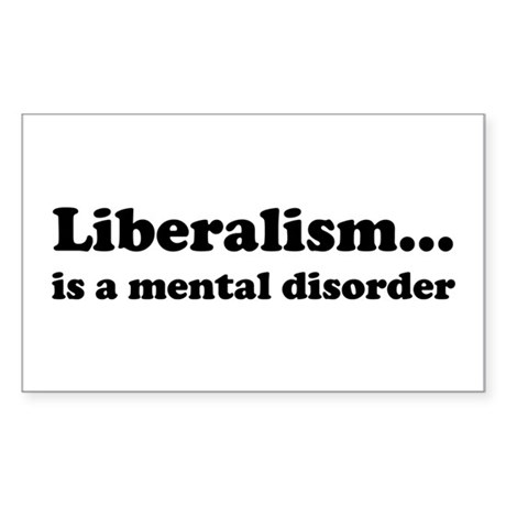 Liberalism Sticker (Rectangle)