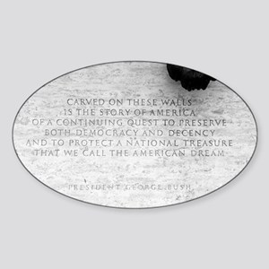 National Law Officers Memorial Oval Sticker