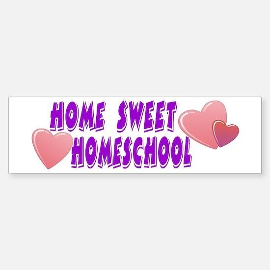 Home Sweet Homeschool Bumper Bumper Bumper Sticker