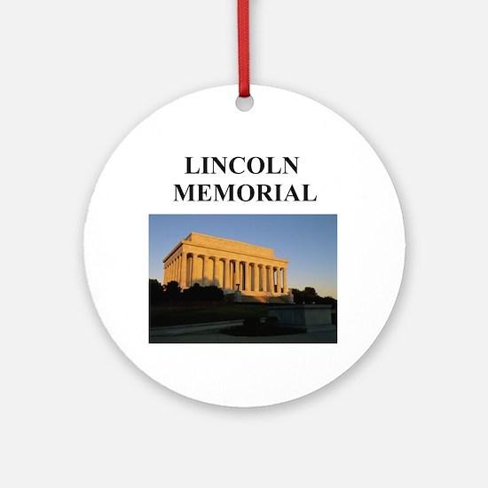 lincoln memorial washington g Ornament (Round)