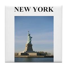 statue of liberty new york ci Tile Coaster