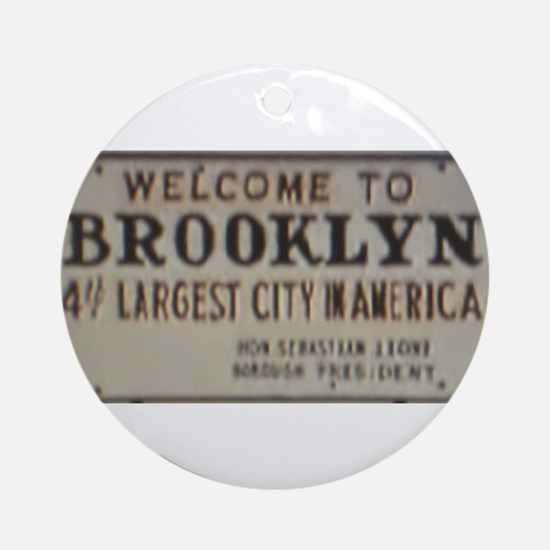 Welcome to Brooklyn Ornament (Round)