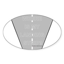 *NEW DESIGN* Where is my Landing Strip? Sticker (O