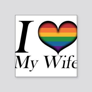 I Heart My Wife Sticker