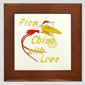 Chinese Adoption Framed Tile