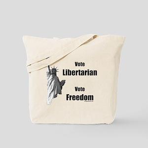 Vote libertarian, vote freedom Tote Bag