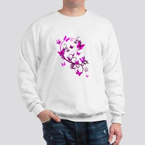 Bright Pink Butterflie Sweatshirt
