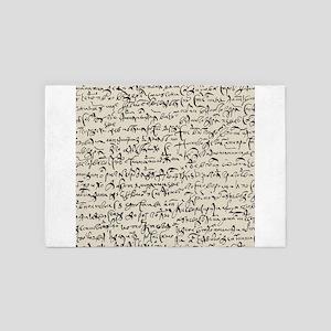 Ancient Manuscript 4' x 6' Rug