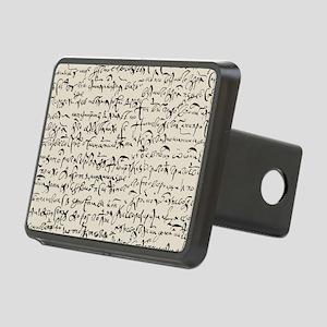 Ancient Manuscript Rectangular Hitch Cover