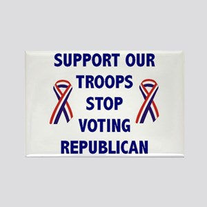 Support Our Troops, Stop Voti Rectangle Magnet