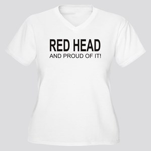 The Proud Red Head Women's Plus Size V-Neck T-Shir