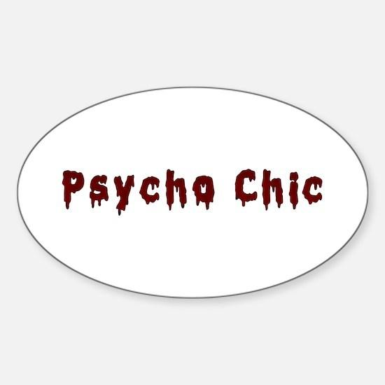 Bloody PsychoChic Oval Decal
