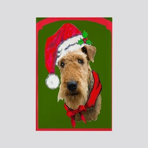 Airedale Christmas Rectangle Magnet