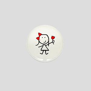 Girl & Logo Flower Mini Button