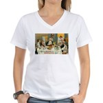 Good Thanksgiving Wishes Women's V-Neck T-Shirt