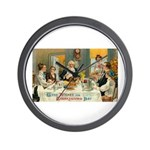 Good Thanksgiving Wishes Wall Clock