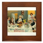 Good Thanksgiving Wishes Framed Tile