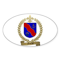 GAREAU Family Crest Oval Decal