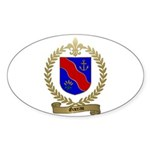 GAREAU Family Crest Oval Sticker