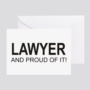 The Proud Lawyer Greeting Card