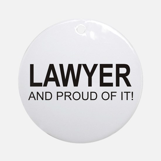 The Proud Lawyer Ornament (Round)