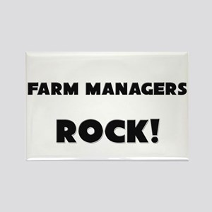 Farm Managers ROCK Rectangle Magnet