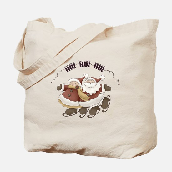 Santa and Mrs. Clause Christmas Tote Bag