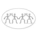 ILY SkelDance Oval Sticker (50 pk)