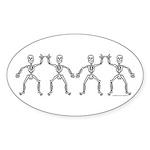 ILY SkelDance Oval Sticker (10 pk)