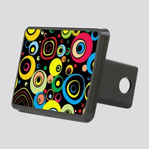 Circles Pattern Rectangular Hitch Cover