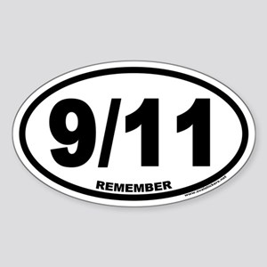 9/11 Euro Oval Sticker