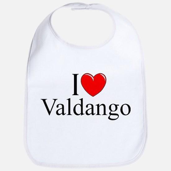"""I Love (Heart) Valdango"" Bib"