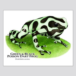 Green & Black Poison Dart Fro Small Poster