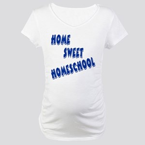 Home Sweet Homeschool Maternity T-Shirt