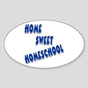 Home Sweet Homeschool Oval Sticker