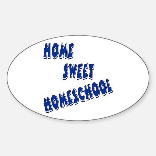 Home Sweet Homeschool Oval Decal