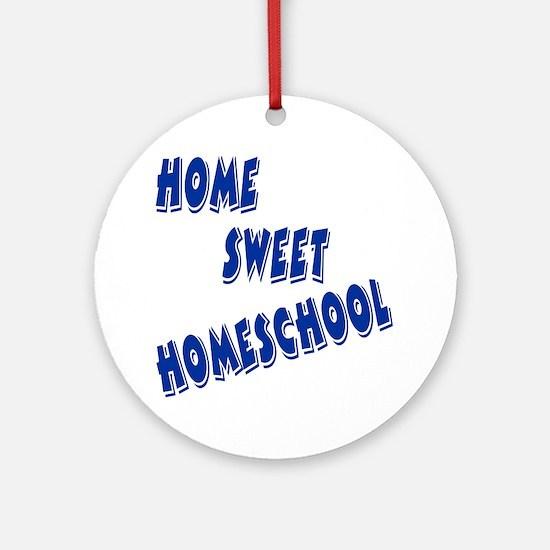Home Sweet Homeschool Ornament (Round)