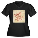 Bill of Rights is Void Women's Plus Size V-Neck Da