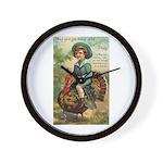 Glad Thanksgiving Wall Clock