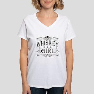 Vintage Whiskey Girl Women's V-Neck T-Shirt