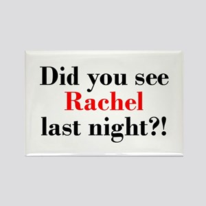 Rachel Fan Rectangle Magnet