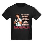 Sarah Palin - The Difference Kids Dark T-Shirt