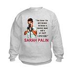Sarah Palin - The Difference Kids Sweatshirt